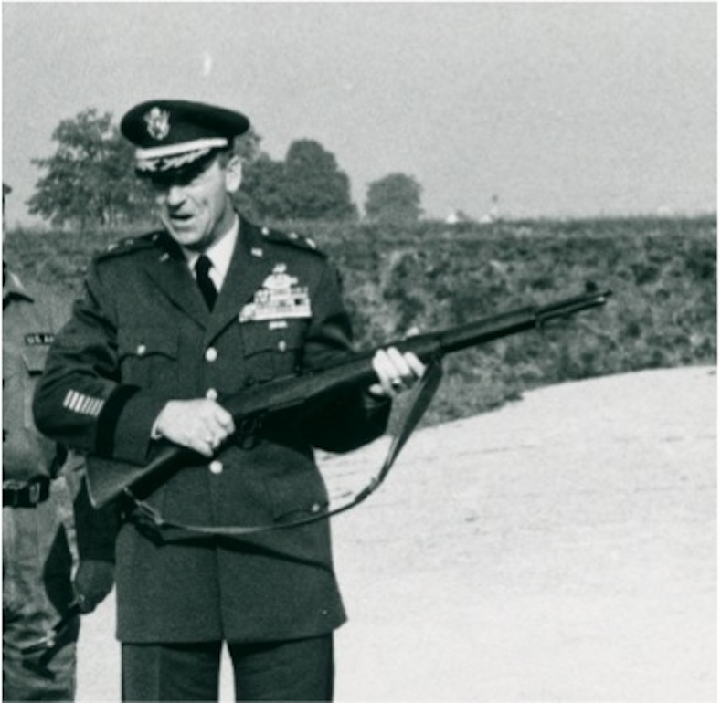 Major General Edwin Walker, Commander of the 24th Infantry at Augsburg, Germany, circa. 1960